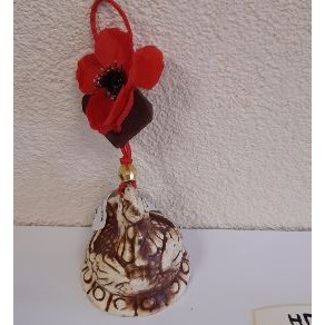 Оберег петух + цветок, 10*8 см. арт. нпо-10740