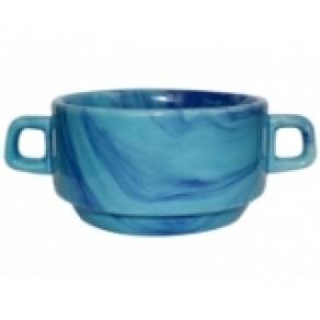 """Бульонница """"Радуга"""" голубая (Км-14290), 6*10 см, 0,32 л"""