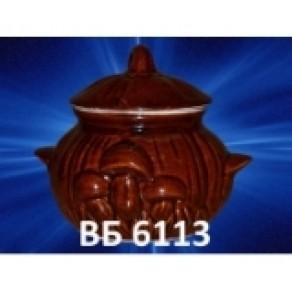 """Горшок для жульена """"Поляна"""", арт. (Вб-21611), 0,32 л, 7*20 см"""