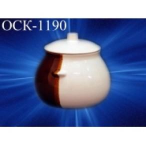 Горшок порционный бел/кор, арт. ОСКХ-1190, 0,6 л