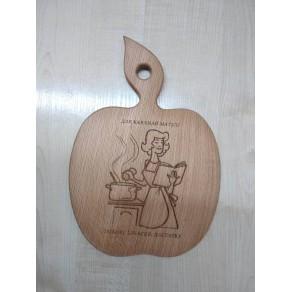 Доска деревянная (бук) РИС, 28*18*1,5 см, арт. ИШД-176340