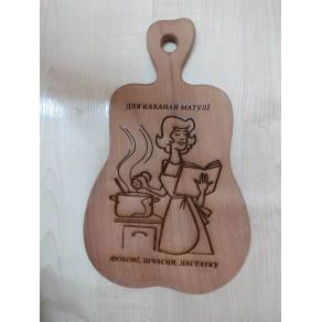 Доска деревянная (бук) РИС, 30*19*1,5 см, арт. ИШД-176350