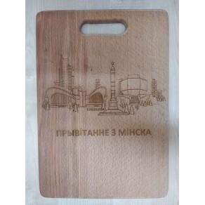 Доска деревянная (бук) РИС, 34*24 см, арт. ОДД-191150