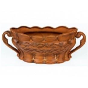 Конфетница красная глина арт. САВ-18363, 30*18 см