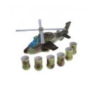 """Набор винный """"Вертолет новый"""" (штоф с рюмками), арт. БУТ-5843, 0,7 л, 18*19 см"""