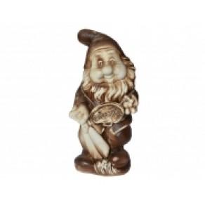 """Садовая фигура """"Гном с ножницами"""" шамот, арт. АК-17975, 38*17*12 см"""
