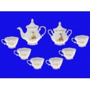 """Чайный набор """"Камелия золотая ветка"""", 8 предметов, арт. (кгс-17843), 18*20*20 см"""