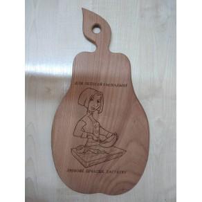 Доска деревянная (бук) РИС, 38*20*1,5 см, арт. ИШД-176320