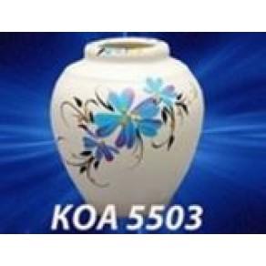 """Ваза """"Васильки"""" белая малая (КОА-5503), 8 см"""