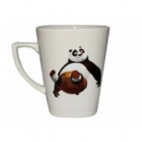 Кружка квадратная, снежка, деколь, панда (Км-12584), 0,25 л, 10*9 см