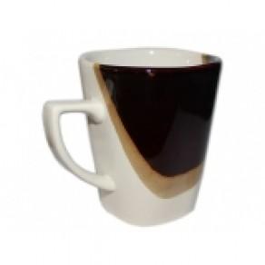 Кружка квадратная, шоколад, глянец (Км-12635), 0,25 л, 10*8 см