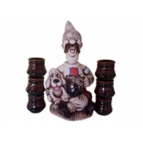 """Набор винный """"Мужик с собакой"""" (6 рюмок), арт. клс-14185"""