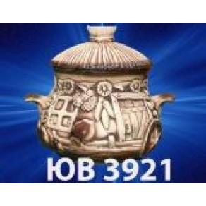 """Горшок """"Хатка новая"""", арт. ЮВ-3921, 0,6 л, 15*13 см"""