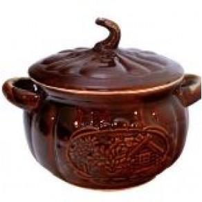 """Супник """"Репка"""" керамический для запекания и тушения, арт. ЮБ-1035, 20*22 см"""