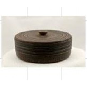 Банка для сыпучих круглая, красная глина, арт. ШР-7228, 16*13 см