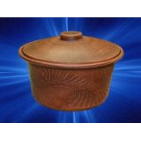 Кастрюля, красная глина, арт. ШР-9455, 2 л, 14*20 см