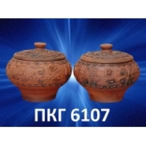 Чугунок рис. резной средний, арт. ПКГ-6107, 1,5 л