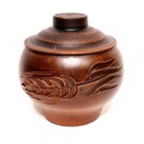Горшок духовой чугунок малый  декор ВБ-18637
