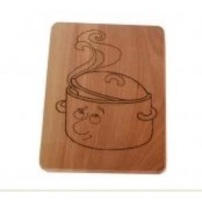Доска деревянная (бук), 20*19*1,3 см, арт. ОВШД-17647