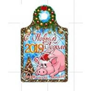 Доска сувенирная Новый год 2019, 17,8*2,9*0,6 см, арт. ФРГ-19907