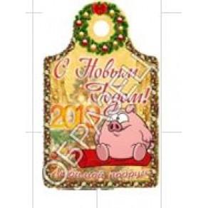 Доска сувенирная Новый год 2019, 17,8*2,9*0,6 см, арт. ФРГ-19908