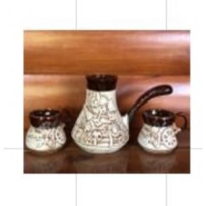 Набор кофейный (турка +2 чашки) Арт.НШР-5012
